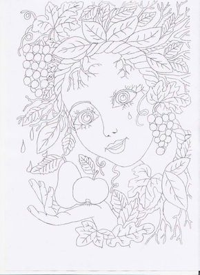 Mary Kay Makeup Face Sheets Sketch Coloring Page