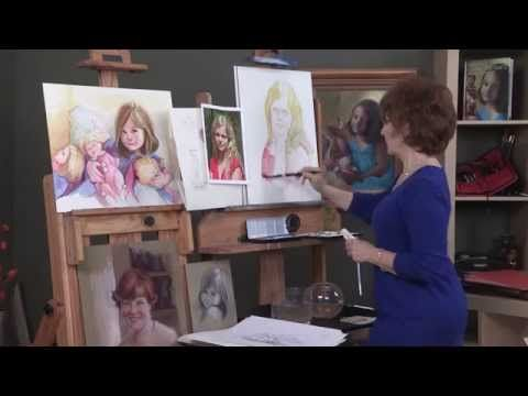 In the http://ArtistsNetwork.tv video, How to Paint Watercolor Portraits the Easy Way, you'll paint each feature of the face: the eyes, nose, mouth, ears, and hair from different angles and perspectives. Then, in a quick portrait demonstration, learn how to put all the features together for a beautiful portrait. Preview here now!
