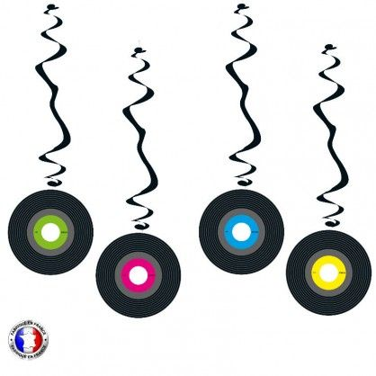 suspensions décoratives thème disque vinyl années 60 à 80.... #disque #vinyl #madeinfrance