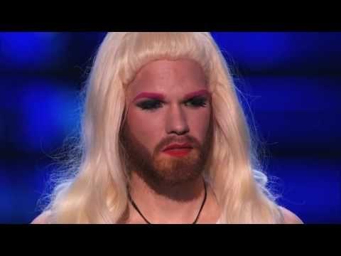 Scott Heierman: Bearded Drag Queen Gets Overcome With Emotions - America's Got Talent 2015 |