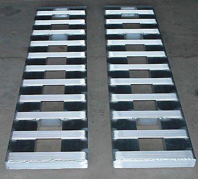 60-5000-LB-ALUMINUM-CAR-TRUCK-RAMPS-TRAILER-auto-hauler-Hook-ends-5-long