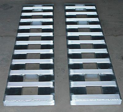 60-5000-LB-ALUMINUM-CAR-TRUCK-RAMPS-TRAILER-auto-hauler-Hook-ends-5-long