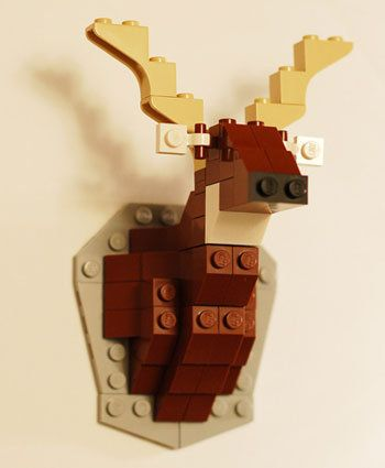 Build A Lego Deer Bust Build Instructions
