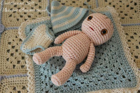 LittleBaby amigurumi doll stuffed doll amigurumi by CuddlyandSoft