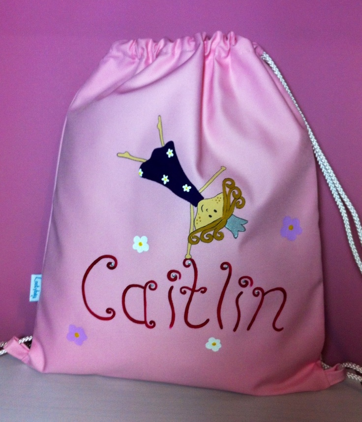 Swim bag for the cartwheeling Caitlin