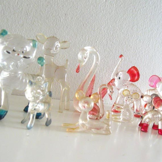 Glass animals. Always saw these st the craft fairs of the 60's and 70's.