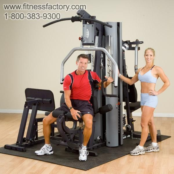 This multi-station workhorse provides health club quality strength training for two people simultaneously.  Similar to the G5S, this ultimate gym adds a second 210lb. weight stack, the premium 2:1 ratio leg press, and moves the Perfect Pec Station to its own seperate area. In addition to the In-Home warranty, this gym carries the Body-Solid Commerical Warranty.