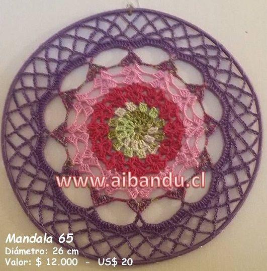 Mandala 65 ... Tejido a Crochet .... diametro 26 cm