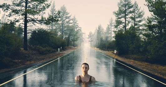 photoshop manipulation - swimming in the street