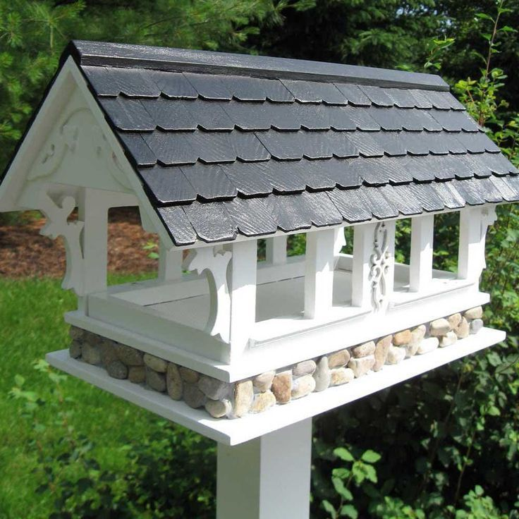 How To Build A Covered Platform Bird Feeder Woodworking Projects Plans Platform Bird Feeder Plans Woodw Gazebo Bird Feeder Bird Houses Bird House Plans