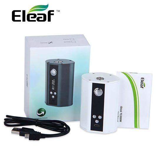 Eleaf iStick 200W TC Mod - The iStick 200W comes as an upgrade to the Eleaf iStick 100W which doubles the power and has an upgradeable firmware – Urban Vape Store