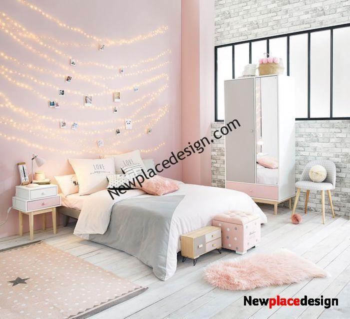 1001 Idees Comment Decorer La Chambre Rose Et Blanc Chic En 2020 Chambre Rose Et Blanc Decoration Chambre Deco Chambre Rose