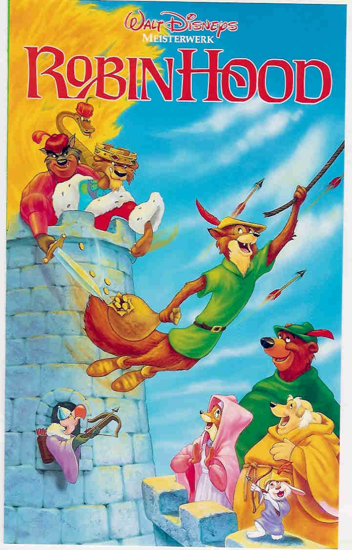 """Disney's """"Robin Hood""""  My all time favorite movie.  Love the animation, the story, and Roger Miller's fantastic songs."""