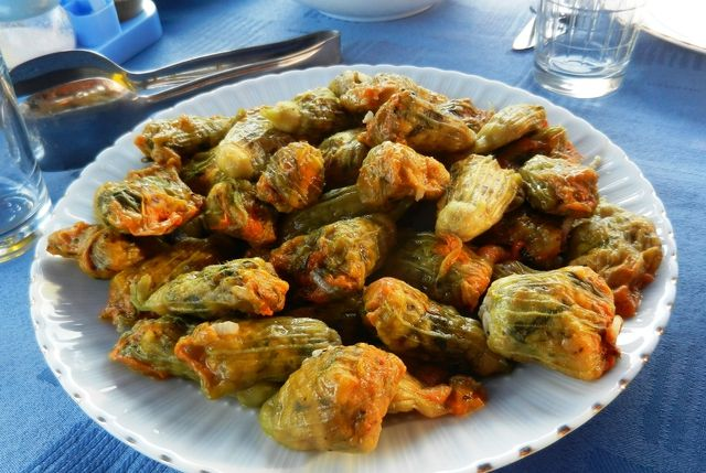 Turkish Stuffed Squash Flowers