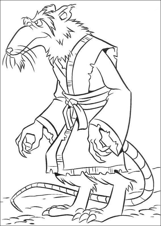 coach ninja turtles coloring pages