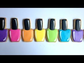 How To Decorate Nail Polish Cookies! - YouTube