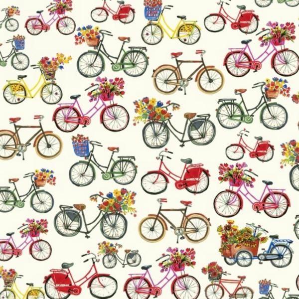 Bicycles in Multi Organic | Bobbie Lou's Fabric Factory
