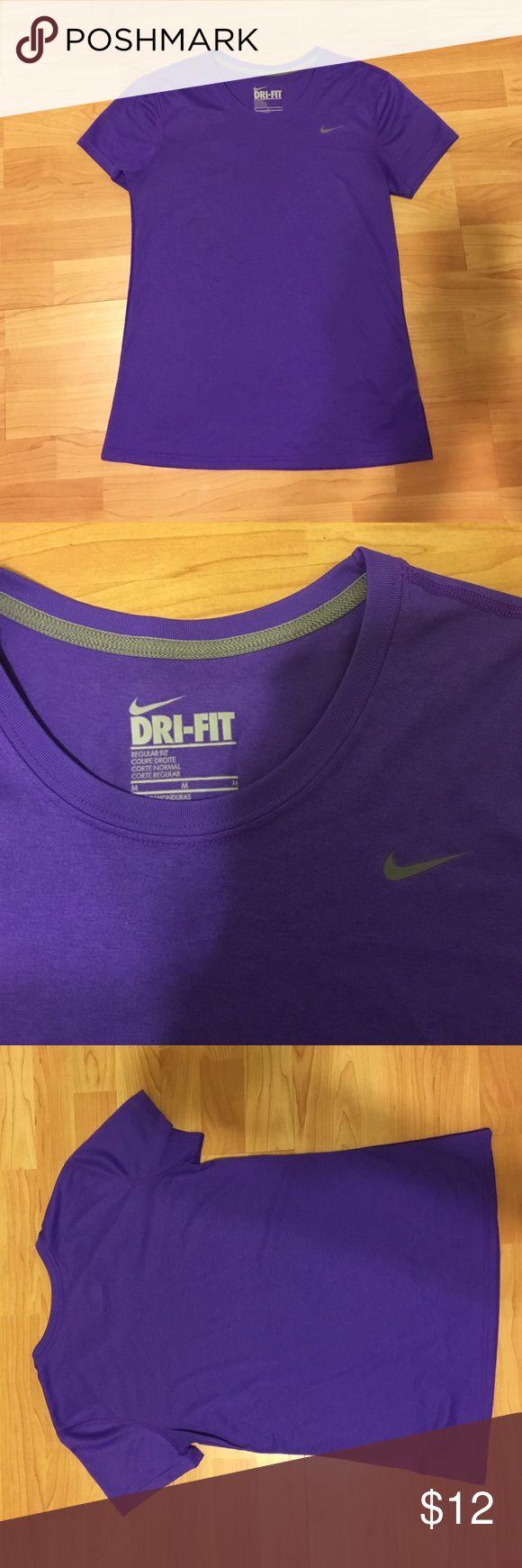 Nike dri-fit, regular cut, purple tee, M Nike dri-fit, regular cut, purple tee, M. No flaws, barely worn. Nike Tops Tees - Short Sleeve