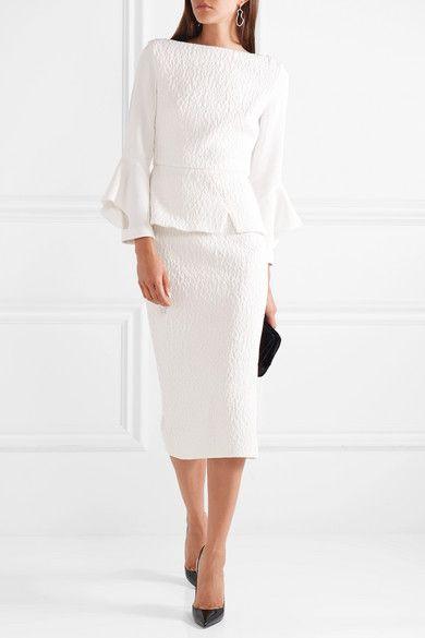 Roland Mouret   Arreton cloqué pencil skirt   NET-A-PORTER.COM   H ...