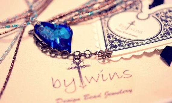 Handamade Swarovski Heart devoted 2 u crystal bermuda by BYTWINS, €120.00