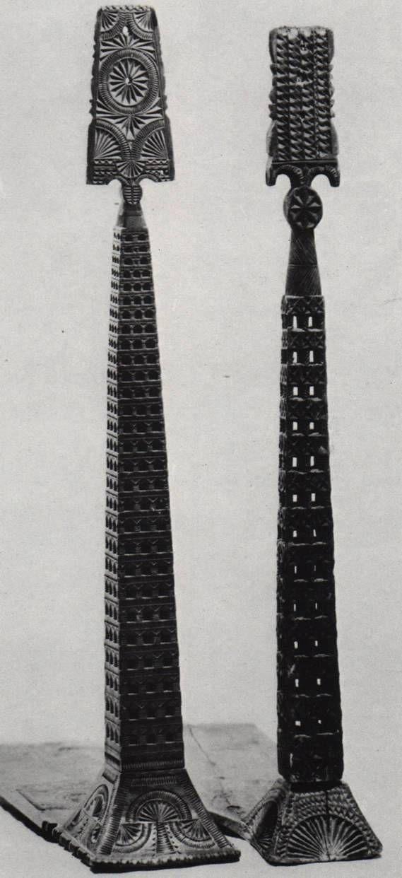 Столбчатые прялки — «волжский столбик» Конец 19 века
