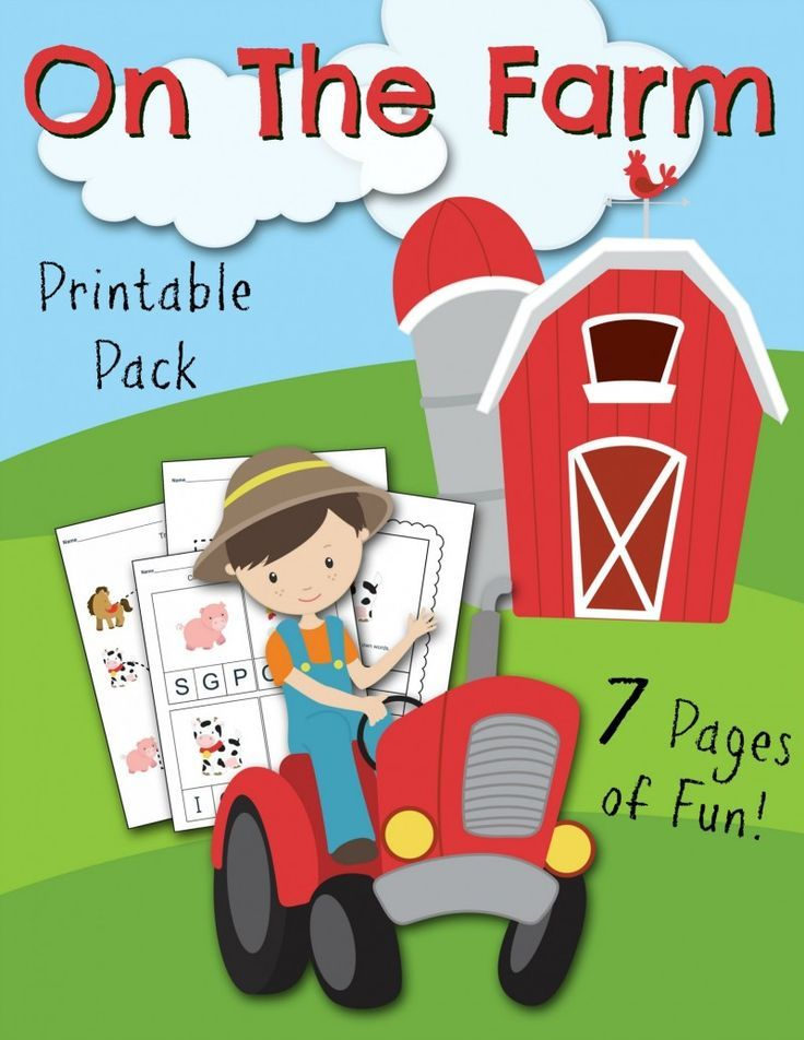 On the Farm Free Printable Kids Activities Sheets http://fantabulosity.com