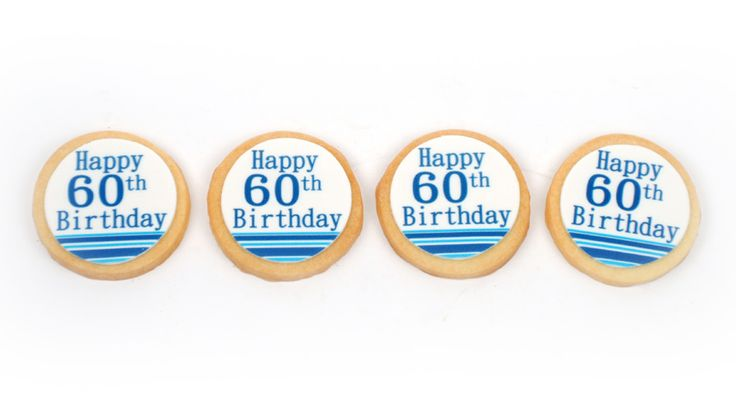 60th birthday made a little bit sweeter with our custom designed shortbread cookies