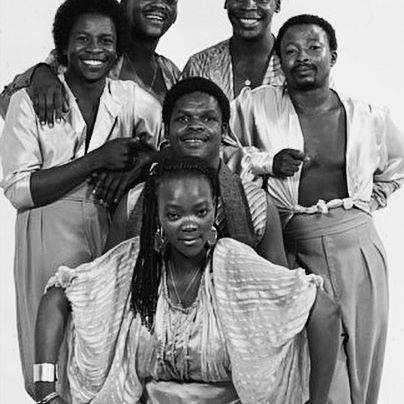 Brenda and The Big Dudes, 1985 : Unknown  #inspiration #blackarchives #sunujournal #blackhistory #southafrica #brendafassie #queen #gonetoosoon #womanpower #lemagazinenoir