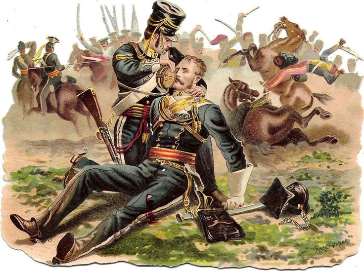Oblaten Glanzbild scrap die cut chromo Soldat  15,5cm soldier fight  Harry Payne