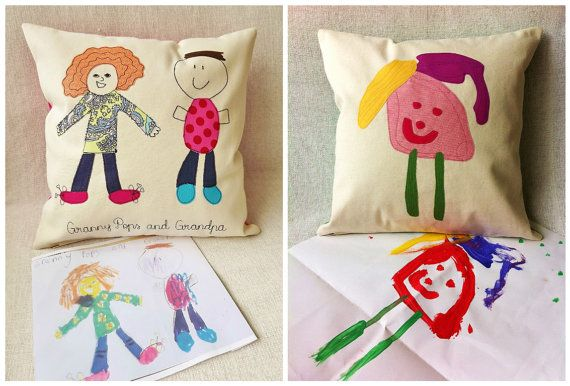 Personalised Cushion Cover with Your Child's by RaspberryButton