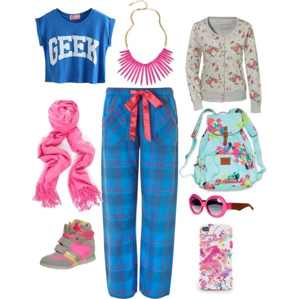 """blue and pink"" by nurulcnisa on Polyvore"