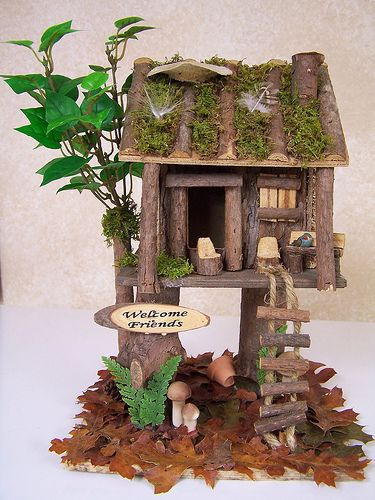 Another fairy house pajareras casitas y jard n - Pajareras de jardin ...