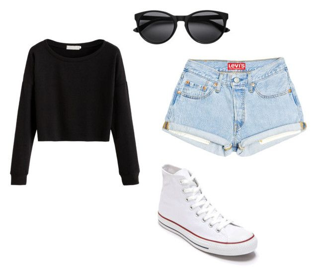 """Hollyn"" by kenzieburpee on Polyvore featuring Converse"