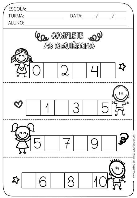 Atividade pronta - Sequência numérica - A Arte de Ensinar e Aprender