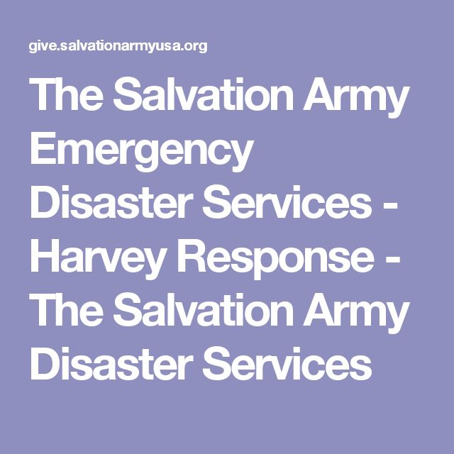 The Salvation Army Emergency Disaster Services - Harvey Response - The Salvation Army Disaster Services