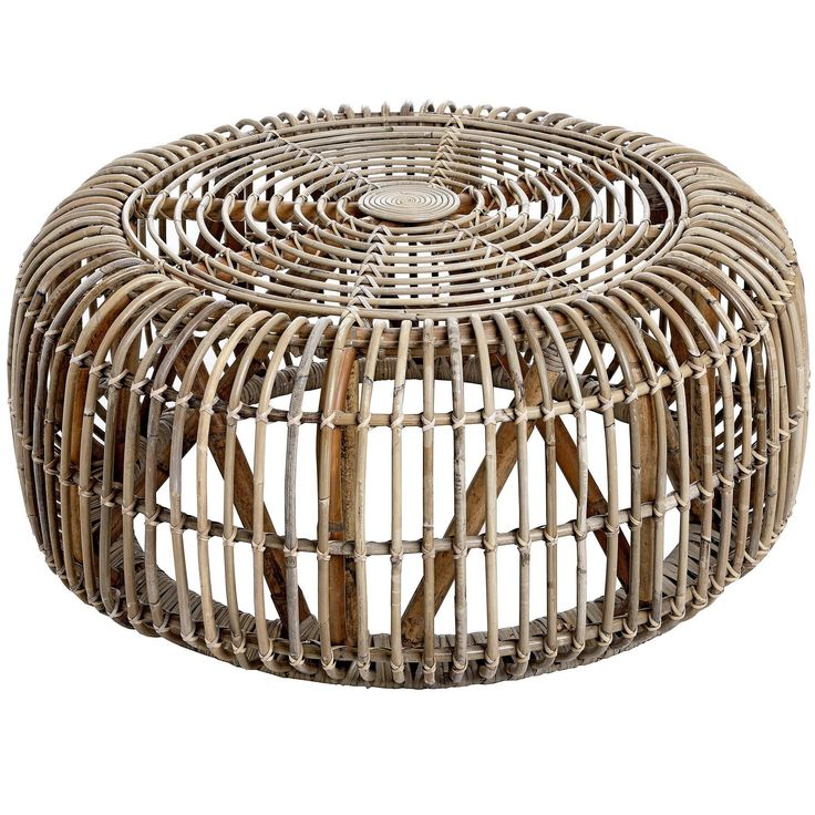 Bali round coffee table from olive and sage rattan