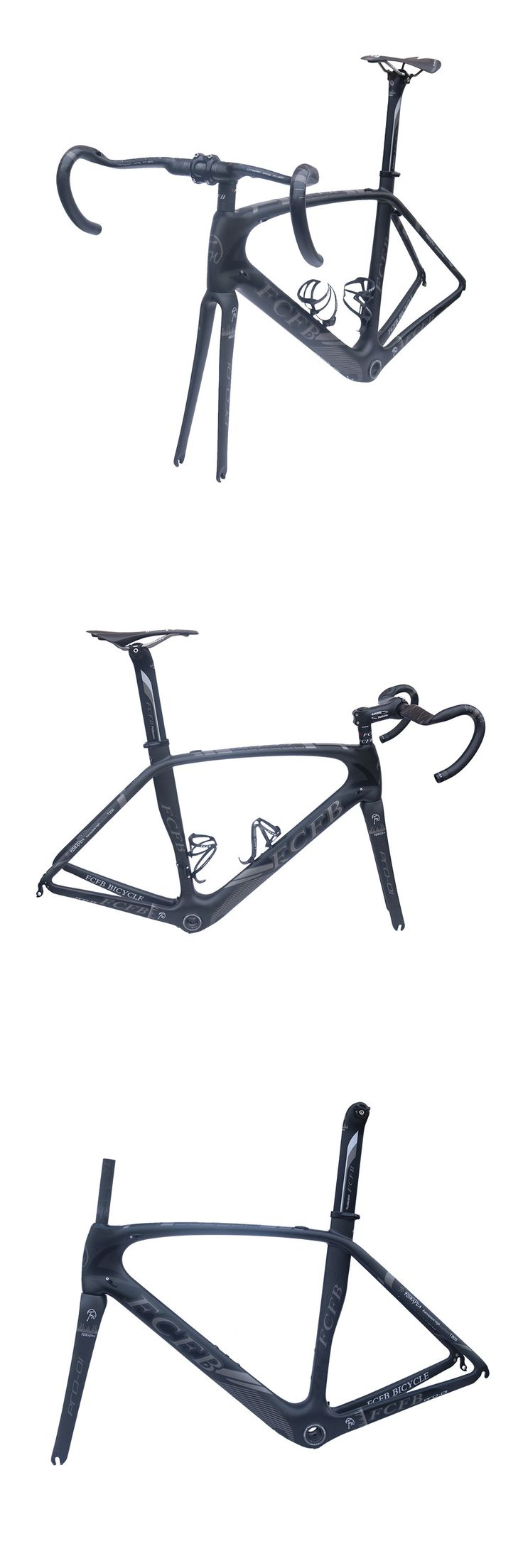 2017 FCFB carbon road bike Pro01 road carbon frame 49/52/54/56cm matt BSA bicicleta road bike frame with carbon handlebar