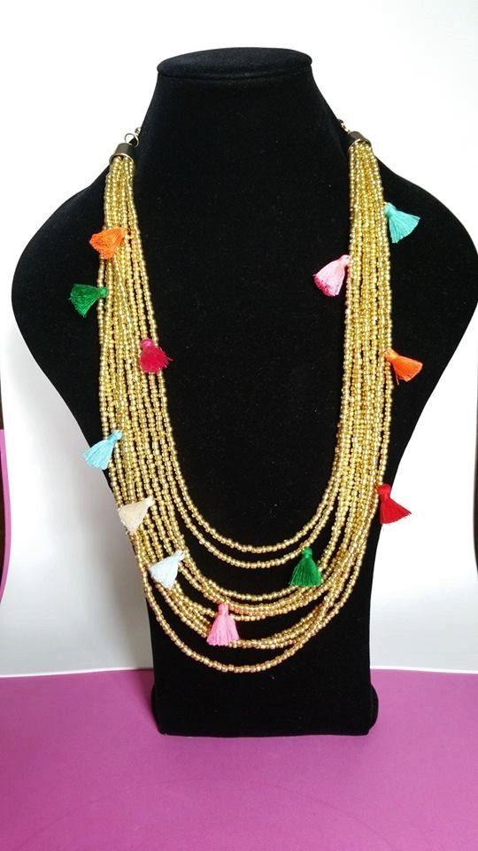 Statement Necklace  multilayer necklaces  chunky by TresJoliePT