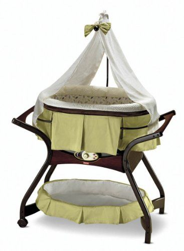 This Fisher-Price Gliding Bassinet is a thing of beauty. Your baby is sure to enjoy the soothing environment created by this bassinet. Create a gliding motion that is just right. Sounds include music, nature and simulated sounds of the womb! Fisher-Price Zen Collection Gliding Bassinet |