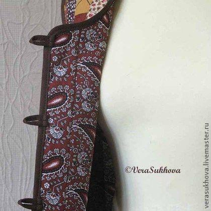 """Жилеты ручной работы. Ярмарка Мастеров - ручная работа Лоскутный жилет """"Всё - в шоколаде!"""". Handmade."""