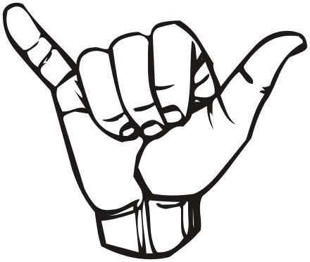 Shaka sign - Wikipedia, the free encyclopedia