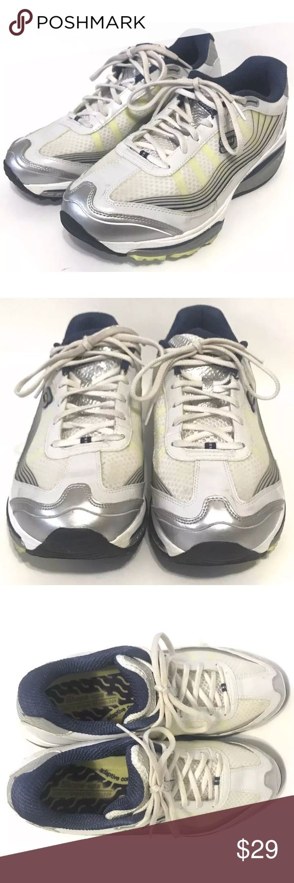 Skechers Shape-Ups Kinetic Wedge Technology SRR Women's Skechers Shape-Ups White Shoes Kinetic Wedge Technology SRR Sz 9.5  •	These shoes are in great pre-owned condition with slight wear. Please see pictures. Skechers Shoes Athletic Shoes