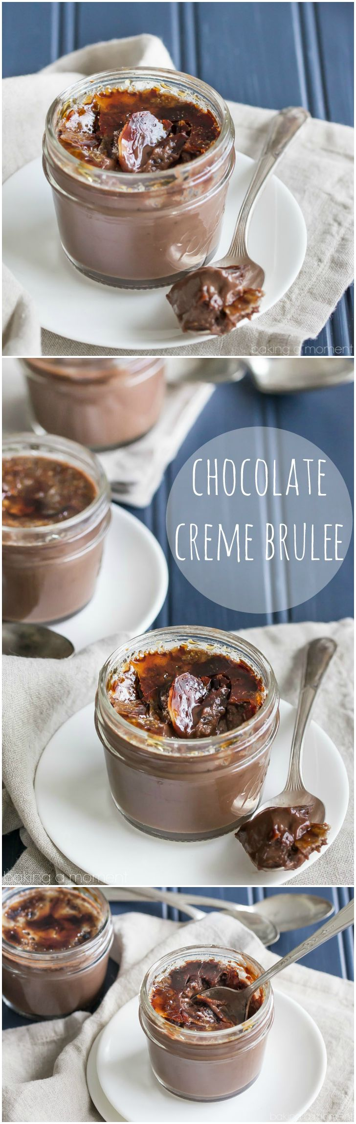 Chocolate creme brulee: an impressive dessert that's so simple to make. Just a handful of simple ingredients and you'll be in chocolate heaven!  food desserts chocolate