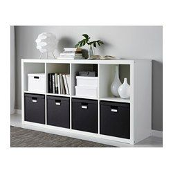 TJENA Kasten mit Deckel, schwarz - 32x35x32 cm - IKEA