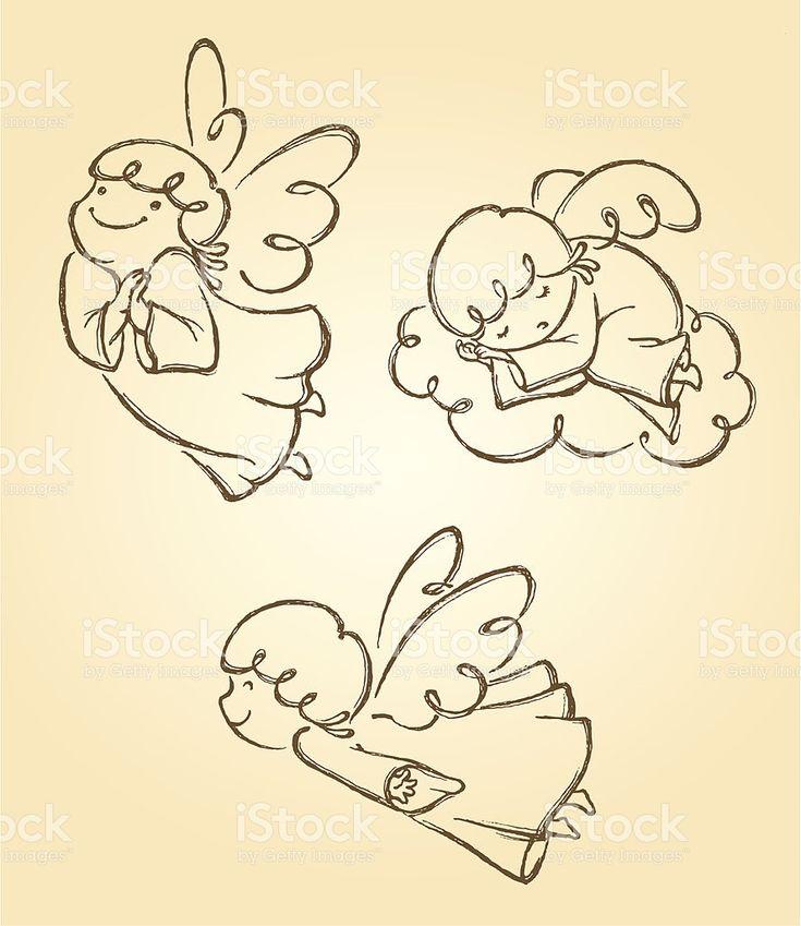 Set di angeli carini 2 illustrazione royalty-free