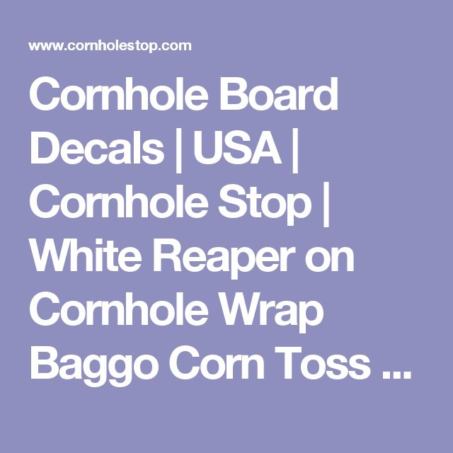 Cornhole Board Decals | USA | Cornhole Stop | White Reaper on Cornhole Wrap Baggo Corn Toss Wrap
