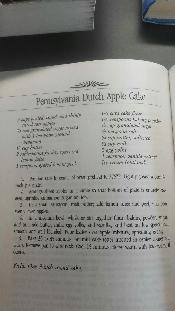 Pennsylvania Dutch Apple Cake.