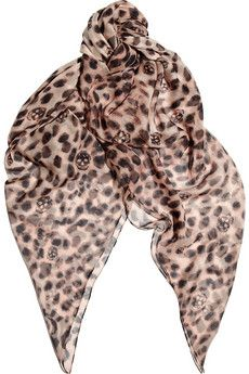 Alexander McQueen cheetah scarf: Mcqueen Leopards, Alexander Mcqueen, Silkchiffon, Skull Silk Chiffon, Skull Scarfs, Silk Chiffon Scarfs, Scarves, Leopards Prints, Leopards Skull