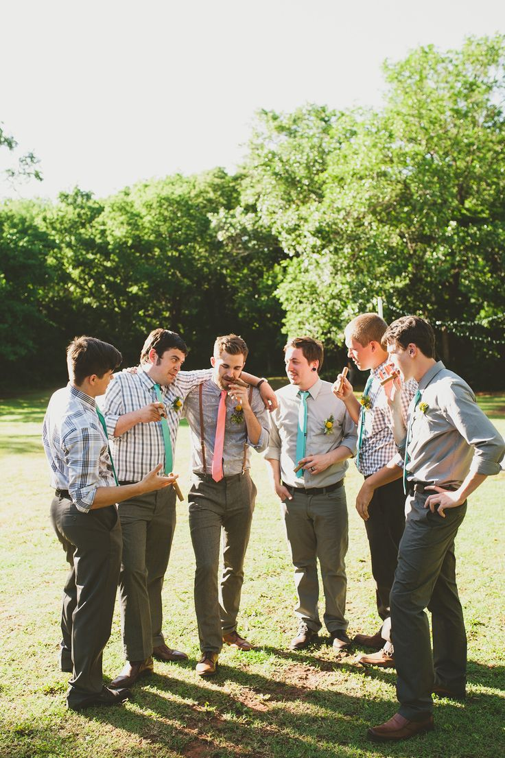 Celebratory cigar | Photography: Catie Bartlett Photography - www.catiebartlett.com Read More: http://www.stylemepretty.com/2014/05/27/earthy-summer-backyard-wedding/