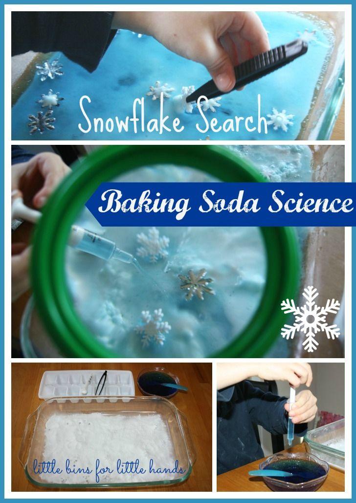 Winter Snowflake Baking Soda Science Experiment {Saturday Science}